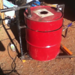 Foundry made from 55-gallon steel drum