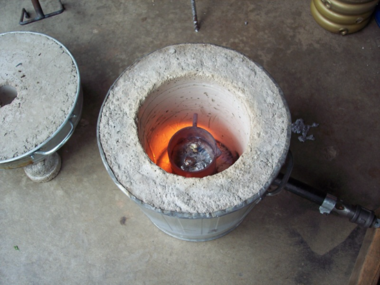 Homemade foundry or forge